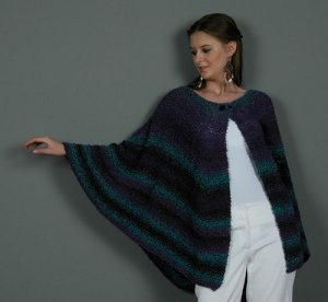 Swirly Striped Cape