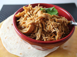 Slow Cooker Cafe Rio Copycat Shredded Chicken