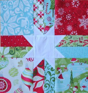 Scrappy Christmas Star Block Favequilts Com