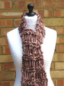 Drop Stitch Ladder Scarf Allfreeknitting Com