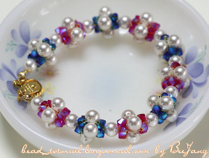 Colorful Pearls and Crystals Bracelet