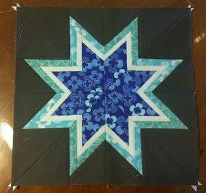 Lone Starburst Paper Piece Block Favequilts Com