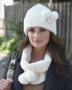 Snow Bunny Cowl And Hat Set Allfreeknitting Com