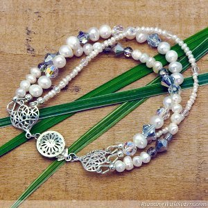 Pearl and Crystal Convertible Necklace to Bracelet