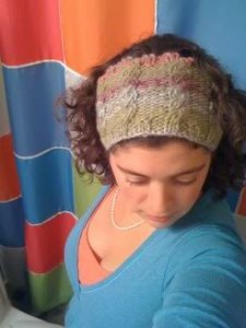 Rose Vines Cabled Headband