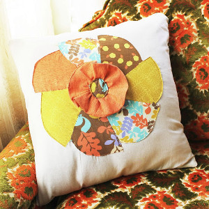 Harvest Pinwheel Pillow