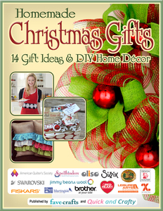 """Homemade Christmas Gifts: 14 Gift Ideas & DIY Home Decor"" free eBook"