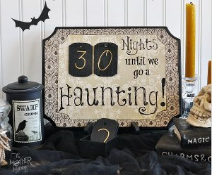 DIY Haunted Halloween Countdown