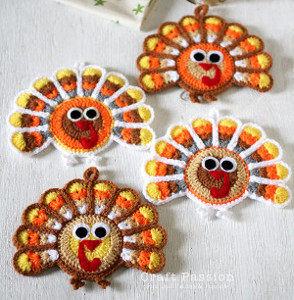 Crochet Turkey Coasters
