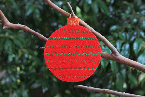Fancy Embroidered Christmas Ornaments