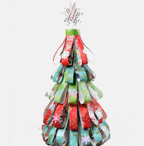 Dazzling decoupage holiday tree for All free holiday crafts