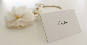 DIY Gold Edged Place Cards
