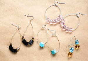 5-Minute Hoop Earrings 3 Ways