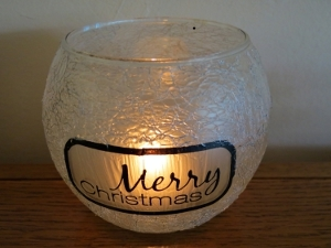 Merry Christmas Candle Holder