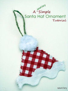 Absurdly Easy Santa Hat Christmas Ornament