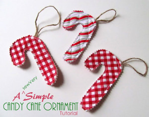 Fresh Mint Candy Cane Ornament
