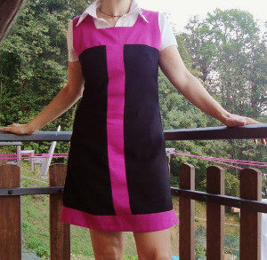 Refashioned 1960s Mod Dress