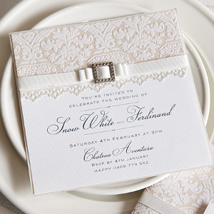 Elegant White Lace Invitations AllFreeDIYWeddingscom