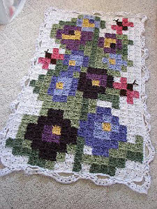 Oversized Cross-Stitch Inspired Afghan