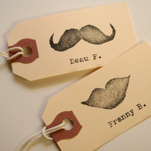 Hipster Wedding Place Cards