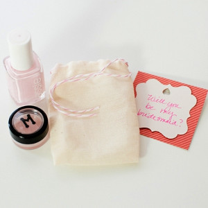 Spa Day Bag Bridesmaid Invite