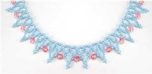 Pastel Crystal Net Necklace