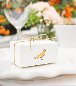 Elegant Bird Favor Boxes