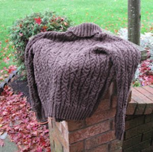 Mossy Cables Turtleneck Sweater