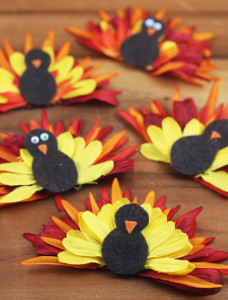 Fall Flower Turkey Decoration