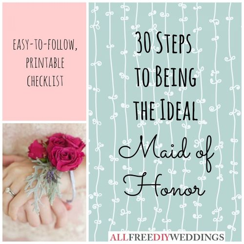 Maid of Honor Duties AllFreeDIYWeddingscom