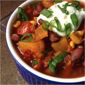 Vegetarian Chili with Butternut Squash
