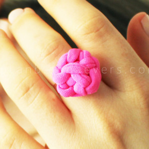 Knotted Recycled Fabric Ring