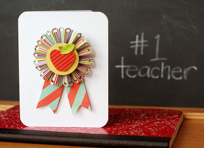 Teaching Award Ribbon Card