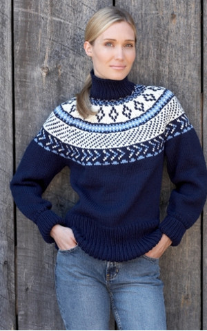 Traditional Fair Isle Yoke Pullover | AllFreeKnitting.com