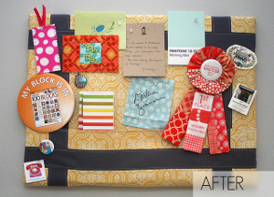 Cork Board Makeover Tutorial