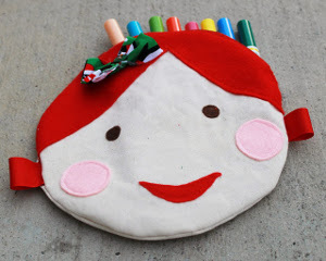Doll Face Circle Pouch