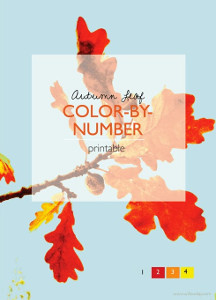 Autumn Leaf Color-by-Number Printables