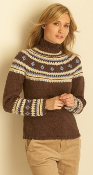 Cozy Fair Isle Sweater | AllFreeKnitting.com