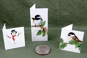 Recycled Christmas Card Folded Tags