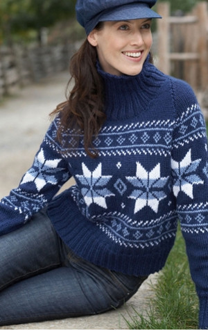 Falling Snowflakes Sweater