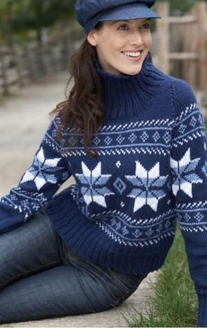 Falling Snowflakes Sweater Allfreeknitting