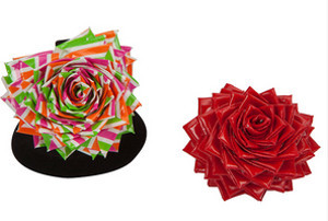 Duct Tape Heart Rose Ring