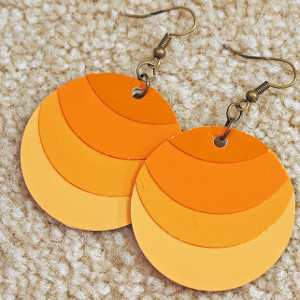 Ombre Paint Chip Earrings