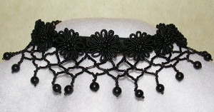 Black Victorian Choker Necklace
