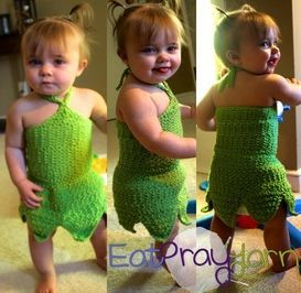 Toddler Tinkerbell Crochet Costume