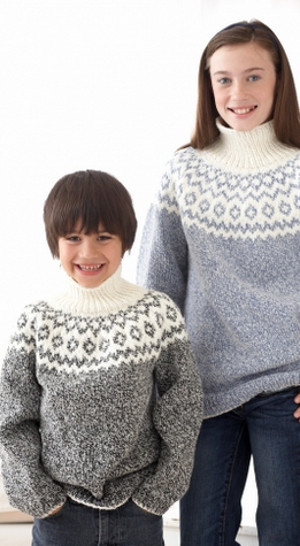 Kid's Classic Fair Isle Sweater | AllFreeKnitting.com