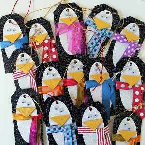 Decorated Penguin Gift Tags