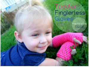 Toddler's Crochet Fingerless Gloves