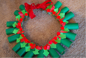 Toilet Tube Christmas Wreath
