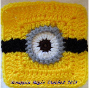 Minion crochet motif allfreecrochetafghanpatterns if your children or grandchildren love the movie despicable me this minion crochet motif is the perfect crochet motif pattern to try ccuart Choice Image
